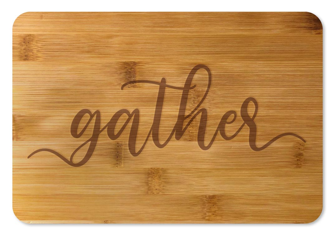 Bamboo Cutting Board / Wine and Cheese Tray - Gather