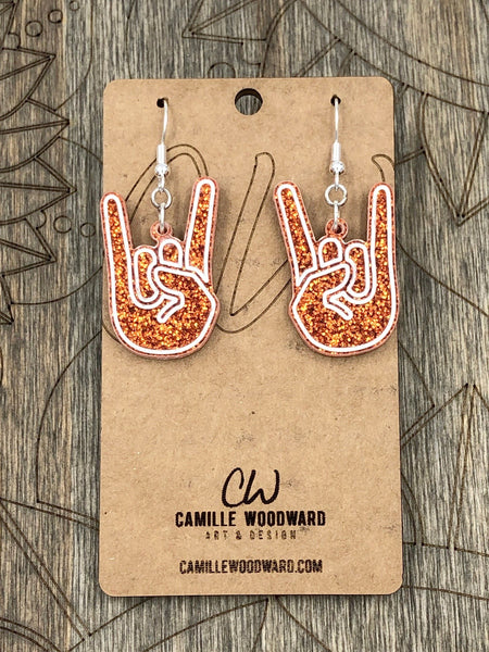 Rock N Roll Hands Earrings