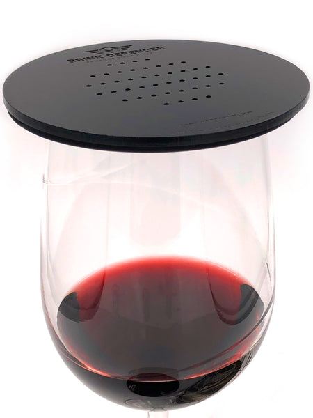 Black DRINK DEFENDER (TM) - Wine, Beer, Cocktail, and Beverage Cover