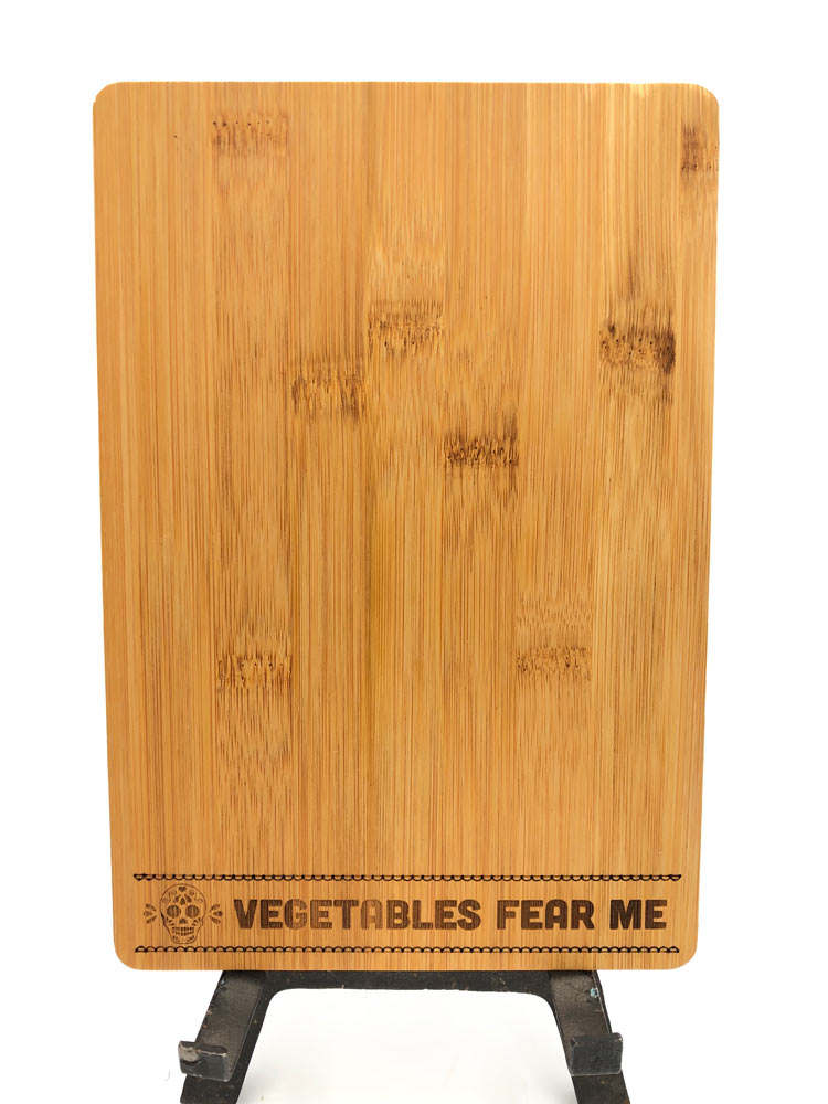 Bamboo Cutting Board - Vegetables Fear Me