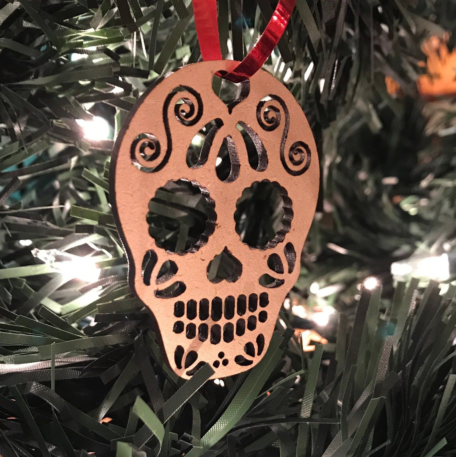 Sugar Skull Ornament - Cut Out Medium