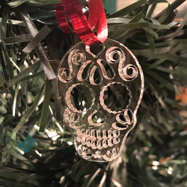 Sugar Skull Ornament - Cut Out Mini
