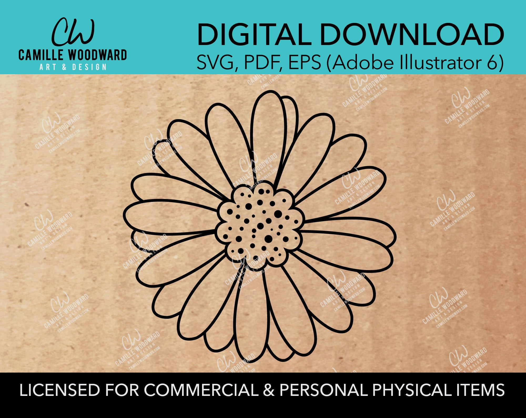 Daisy Flower, SVG - INSTANT Digital Download
