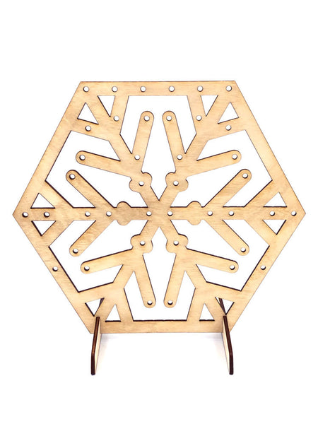 Earring and Jewelry Display Stand, Snowflake Hexagon - INSTANT Digital Download