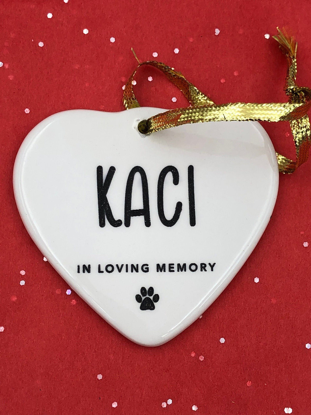 Personalized Pet Ornament -  Christmas Memorial