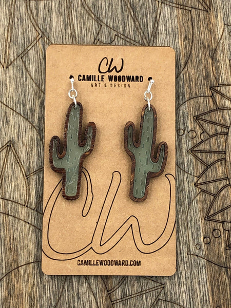 Cactus Acrylic Earrings