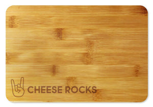 Bamboo Cutting Board / Wine and Cheese Tray - Cheese Rocks