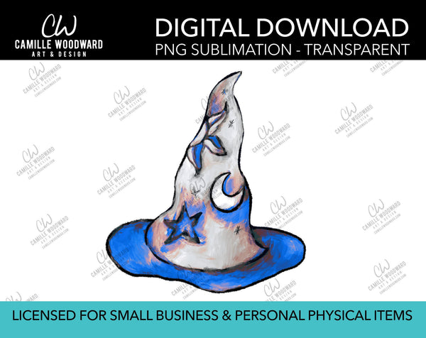Magic Hat Celestial Blue, PNG - Sublimation Digital Download