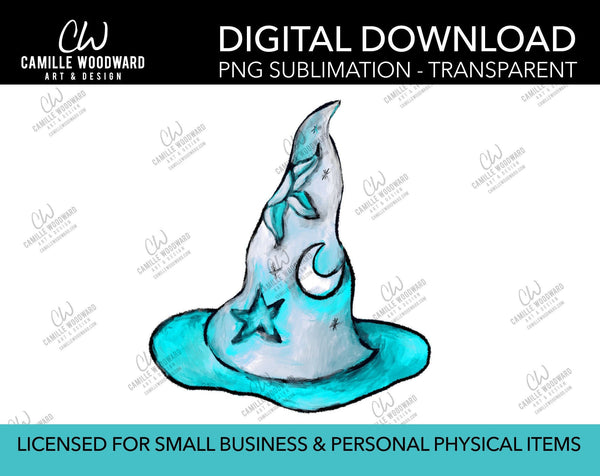 Magic Hat Celestial Aqua, PNG - Sublimation Digital Download