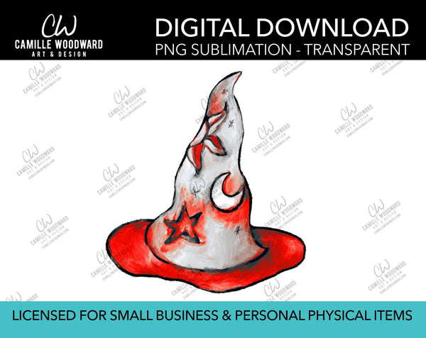 Magic Hat Celestial Red, PNG - Sublimation Digital Download