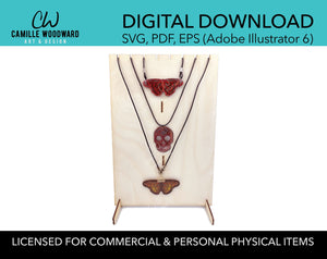 Necklace Display Stand, Rectangle with Top Notches Bust - INSTANT Digital Download