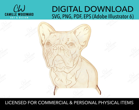 Pet Display Stand French Bulldog, PNG SVG - INSTANT Digital Download