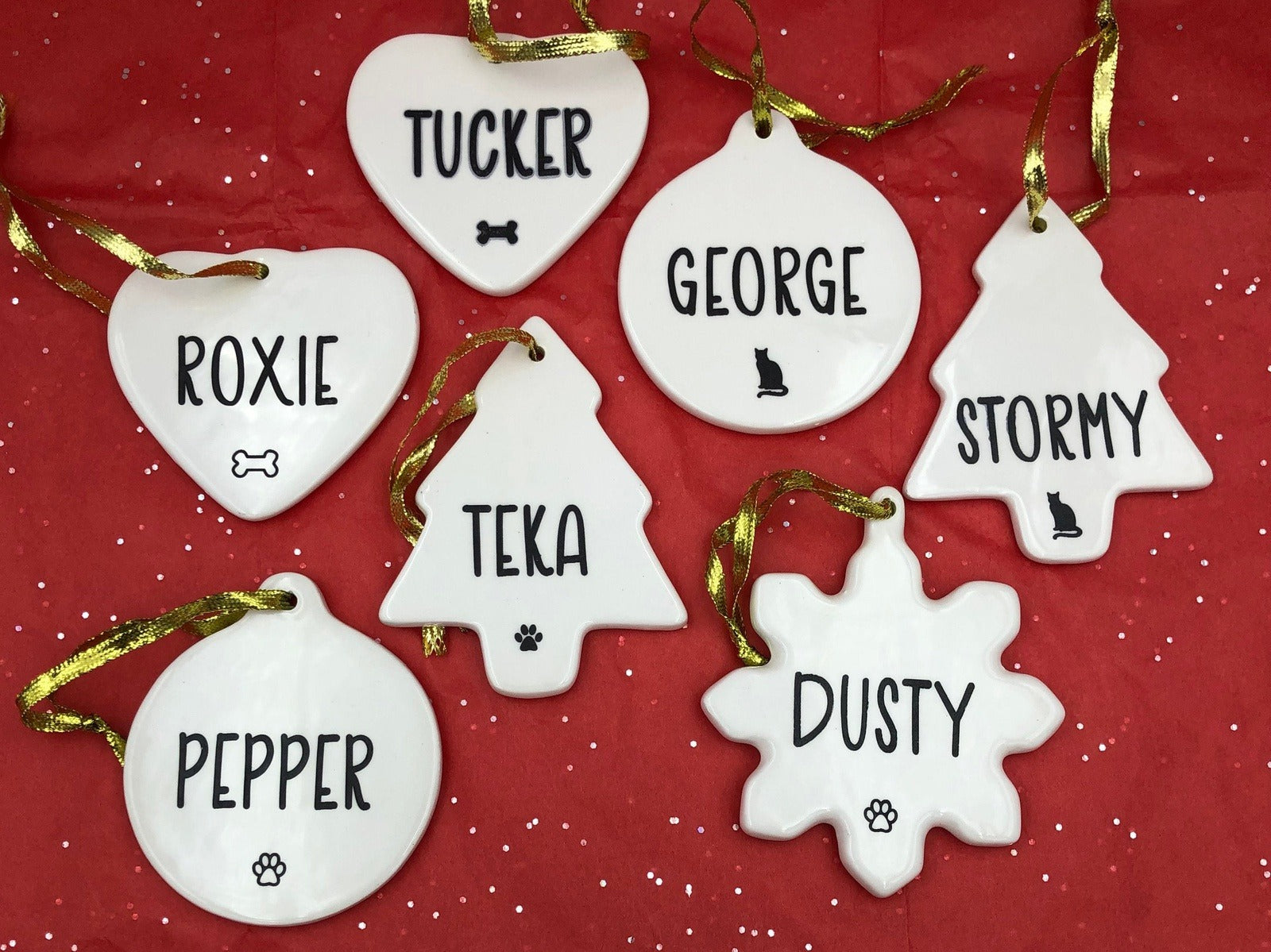 Personalized Pet Ornament -  Christmas