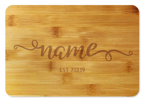 Bamboo Cutting Board / Wine and Cheese Tray - Personalized