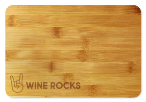 Bamboo Cutting Board / Wine and Cheese Tray - Wine Rocks