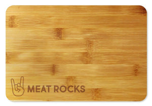 Bamboo Cutting Board / Wine and Cheese Tray - Meat Rocks