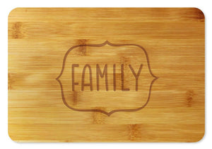 Bamboo Cutting Board / Wine and Cheese Tray - Family