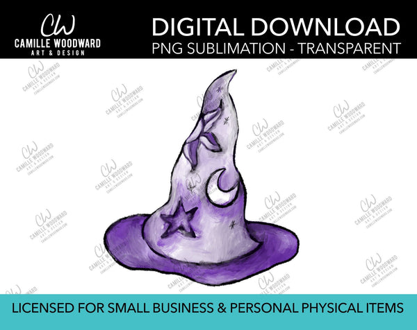 Magic Hat Celestial Purple, PNG - Sublimation Digital Download