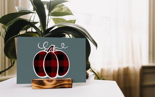 Buffalo Plaid Pumpkin Maroon Black, SVG, EPS, PNG - Sublimation Digital Download Transparent