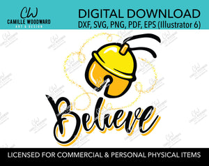 Christmas Believe Jingle Bell Sparkle Gold and Black, SVG, EPS, PNG - Sublimation Digital Download Transparent