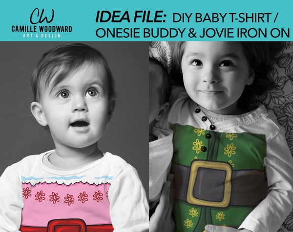 Christmas Jovie The Elf Belly Pink Red Belt - Baby shirt mockup