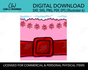 Christmas Jovie The Elf Belly Pink Red Belt, SVG, EPS, PNG - Sublimation Digital Download Transparent