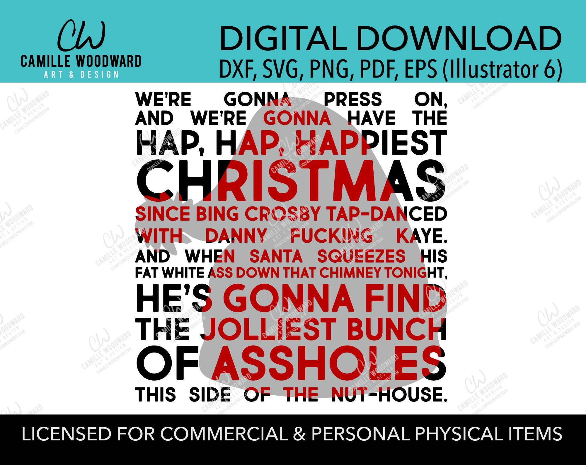 Clark Griswold Christmas Rant, SVG, EPS, PNG - Sublimation Digital Transparent
