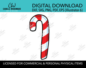 Christmas Candy Cane Red and White Stripes, SVG, EPS, PNG - Sublimation Digital Download Transparent