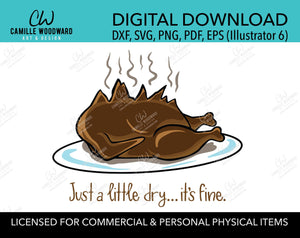 Griswold Turkey Exploded A Little Dry, SVG, EPS, PNG - Sublimation Digital