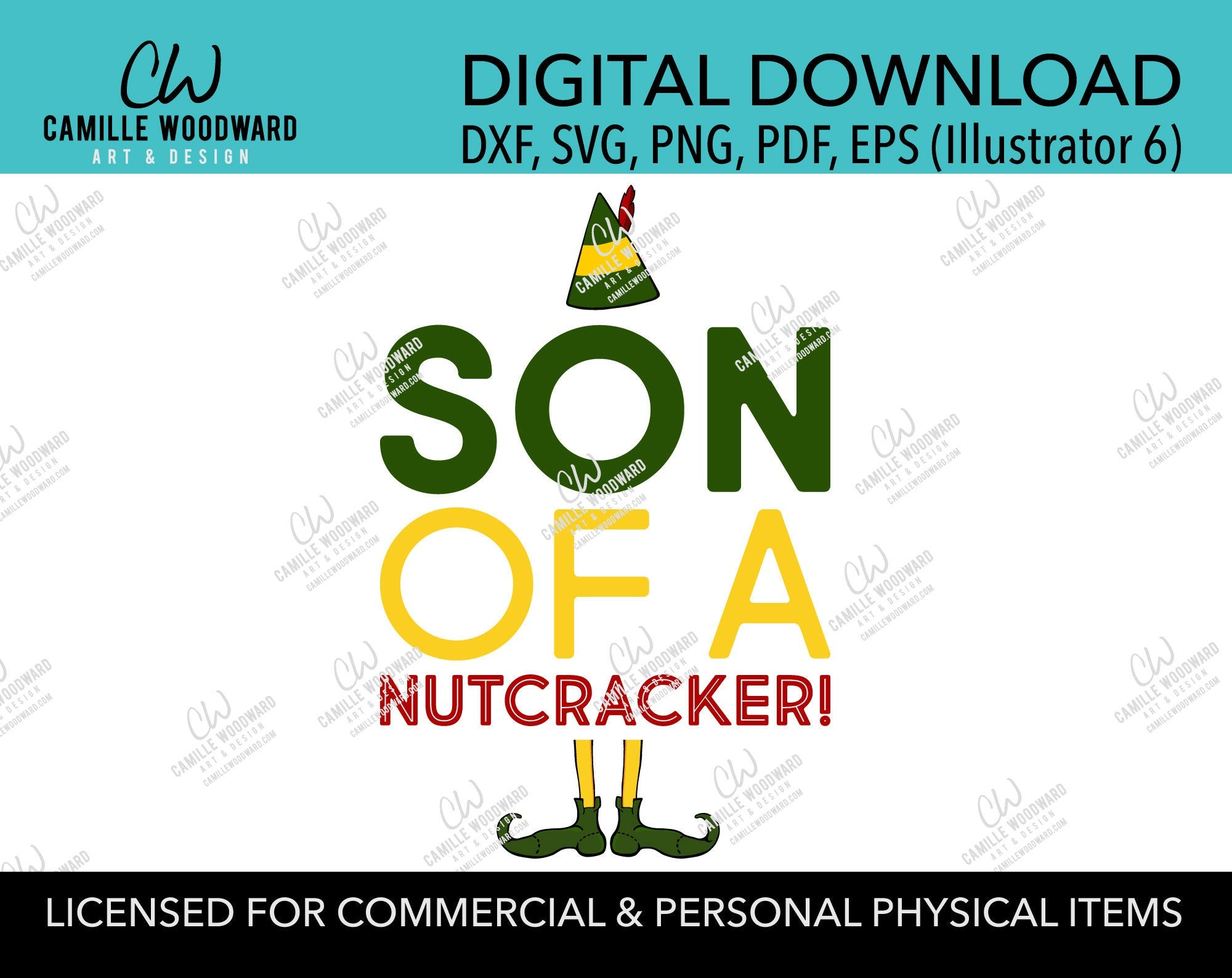 Christmas Buddy The Elf Son Of A Nutcracker Quote, SVG, EPS, PNG - Sublimation Digital
