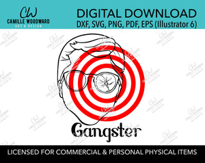 A Christmas Story Ralphie Gangster Bullseye Clip Art, SVG, EPS, PNG - Sublimation Digital