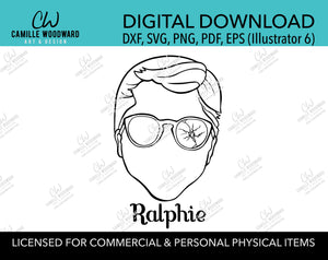 A Christmas Story Ralphie Face Clip Art, SVG, EPS, PNG - Sublimation Digital