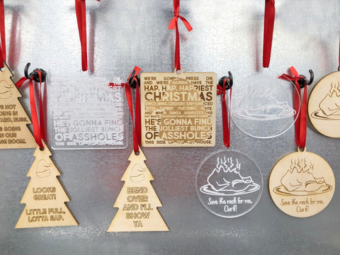 Clark Griswold Lampoons Christmas Ornaments Movie Quotes, Wood Acrylic