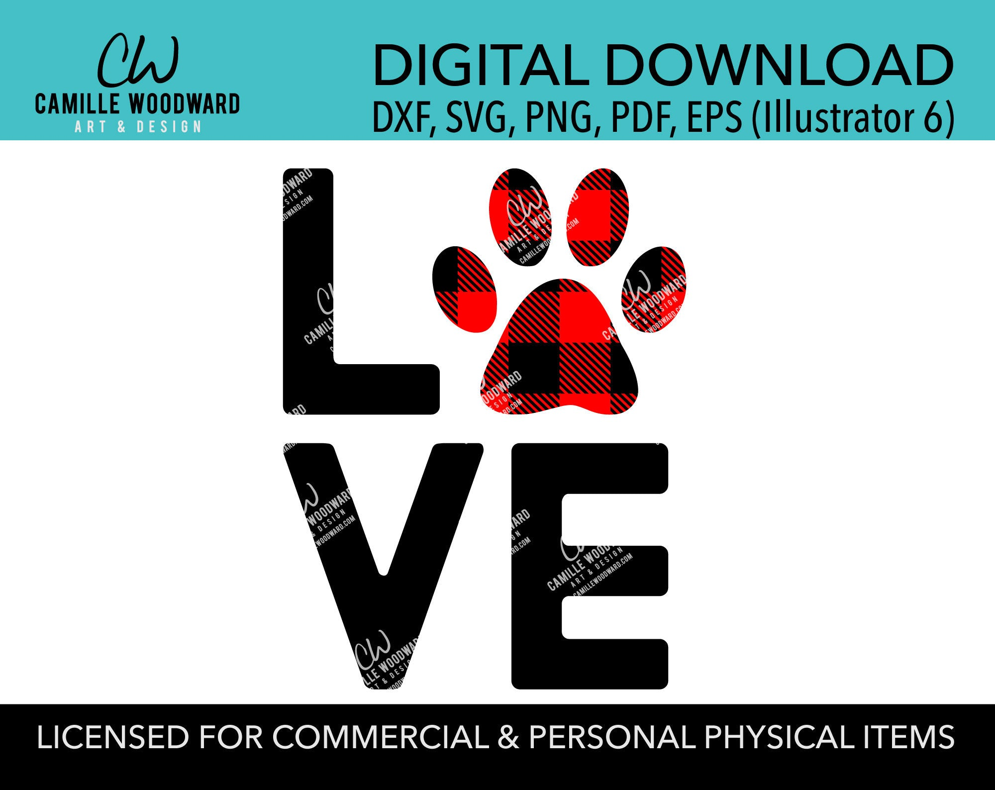 22+ Love With Paw Print Svg PNG