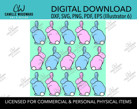 Easter Bunny SVG, Easter Bunnies SVG, Easter BunnyClipart, Easter SVG, Pastel, Pink ,Blue, Green, Spring - Cricut Cut, Digital Download