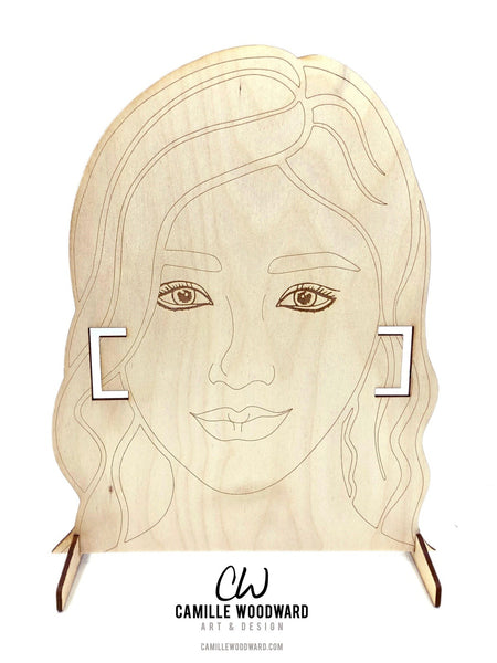 Mask Display Stand SVG, Mask Display Holder, EPS - INSTANT Digital Download for Laser Cutters