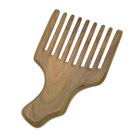 Handmade Wooden Beard Pick (Green Sandalwood)