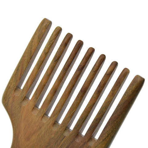 Image of Handmade Wooden Beard Pick (Green Sandalwood)