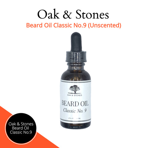 Image of Oak & Stones Unscented Beard Oil