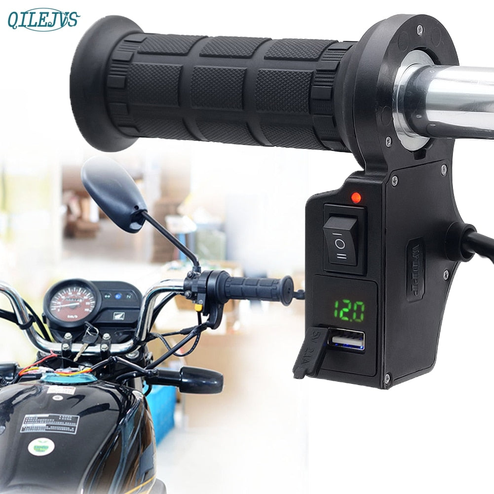 Motorcycle Handlebar Electric Hot Heated Grips Handle Voltage Usb Wiring To Charger