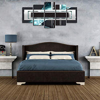 YHY ART Abstract Wall Art Blue Black Canvas Painting 5 Pieces for Living Room Decoration Modern Rectangle Canvas Picture Home Decor Ready to Hang (Blue, W40'' x H20'')
