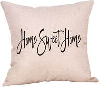 "Softxpp Home Sweet Home Throw Pillow Cover Rustic Farmhouse Christmas Sign Winter Holiday Decor Cushion Case Decorative for Sofa Couch 18"" x 18"" Inch Cotton Linen"