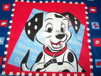 "16"" 101 DALMATIONS DOG BONE TREAT DISH MOVIE ACCENT PILLOW SHAM COVER CASE"