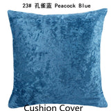 Ice Silver Velvet Pillow Solid Colorr Luxury Pillowcase Cushion Home Decor For Living Room Sofa Custom Throw Pillow 40/45/50/60