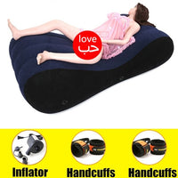 Sex Inflatable Cushion Pillow With Handcuff Velvet Soft Living Room Furniture Lazy Coussin Chair For Adult Couple Erotic Bed