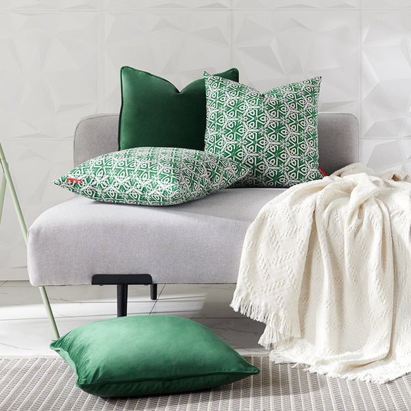 High Quality Green leaves series Printed Cushion Cover Living room Decorative Throw Pillow Cover Case For Sofa Home Car Deco
