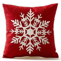 TOP!-Beautiful Snowflake In Red Merry Christmas Gifts flax Throw Pillow Case Cushion Cover Home Office Living Room Sofa Car Deco