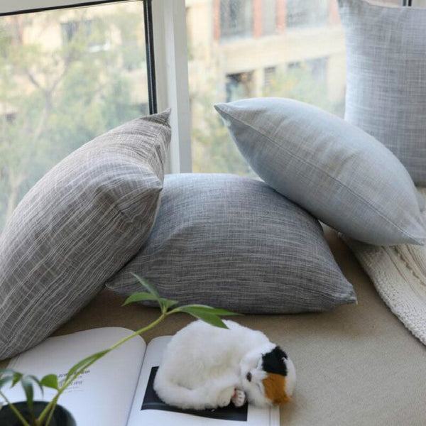 1 PC Solid Cotton/linen Cushion Case Pillow Case For Living Room Home Deco Hotel Office Chair Pillow Cover Without Filler