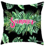 Hawaiian Coconut Tree Green Leaves Cushion Summer Style Tropical Plant Monstera Palm Leaf Sofa Pillow For Home Living Room Chair
