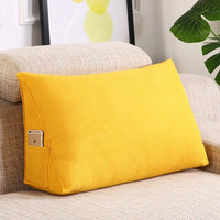 Large Triangle Cushion Home Decor Living Room Sofa Backrest Cushion Seat Waist Pillow Gift Peluches Removable and Washable FK089